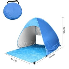 Auto pop up tent for 2-4 persons outdoor camping beach tent