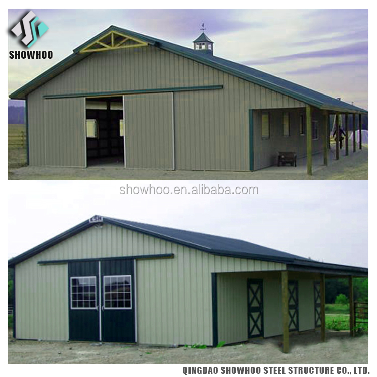 Fast Build Prefab Steel Structure Building Prefabricated Horse Barns