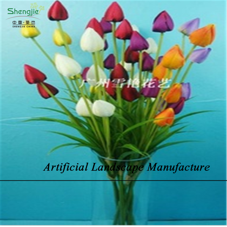 Sjzt04 Artificial Flower Tulips For Decoration,Wedding Single Tulips ...