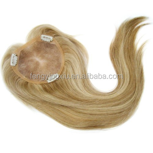 Customized order fine mono base hair topper wig clips for women