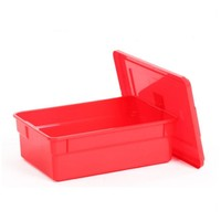 Customized stackable plastic storage case with handle