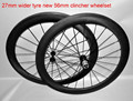 Dengfu cheap 700C 27mm wide 56mm carbon road bike clincher wheels, 27mm width carbon road bike clincher wheelset