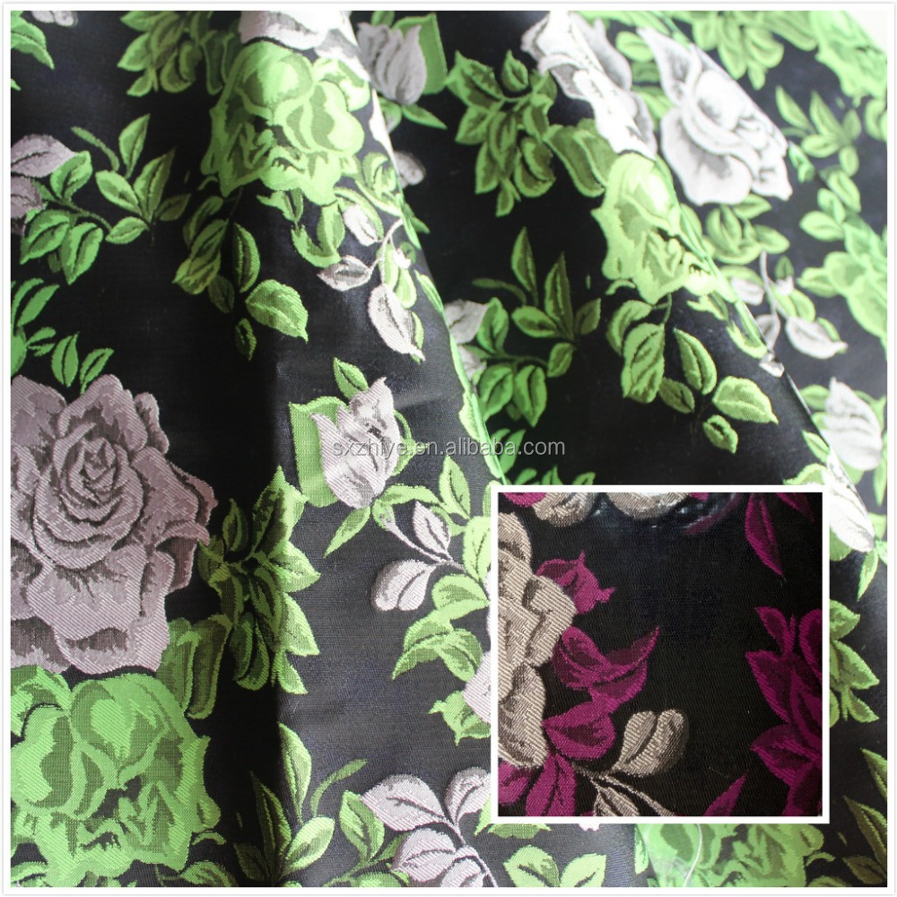 100% polyester woven upholstery jacquard fabric for fancy dress fabric