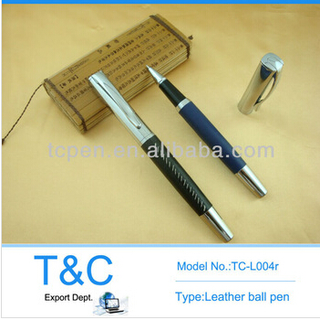 2014 leather& metal customized promotional cheap pen camera