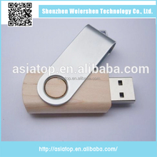 wholesale cheap Swivel wooden swivel 32gb usb key