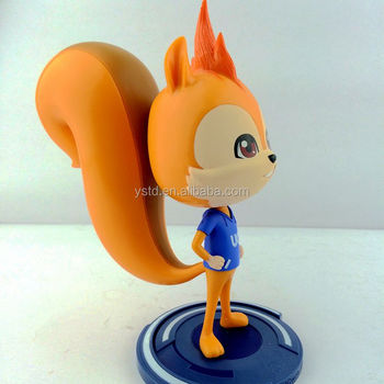 High quality cheaper price custom made cartoon animal shaped PVC rubber vinyl toy