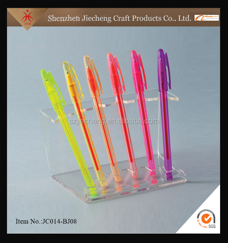 Customized cheap desk acrylic pen display stand