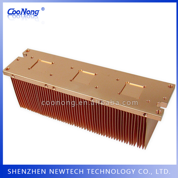 Tailor CNC Copper skived IGBT/module/energy industrial thermal heatsink Procedure