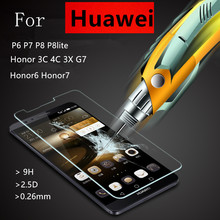 Tempered Glass Film Explosion Proof Screen Protector For Huawei P6 P7 P8 Lite P9 Lite Plus Honor 6 7 3C 4C 3X Ascend G7