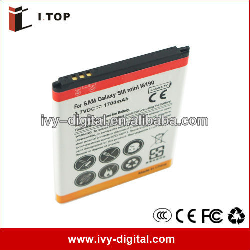1700mAh Mobile Phone Battery for Samsung i8190, galaxy s3 Mini, New Model