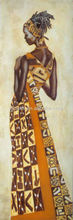 New design abstract african women painting