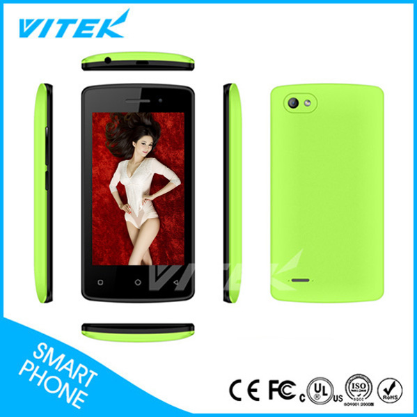 China Made 2017 Vitek 3G 4 Inch Mobile Phone Touch, Cheap Latest Android Mobile Phones,Dual Sim Cars Mobile Phones