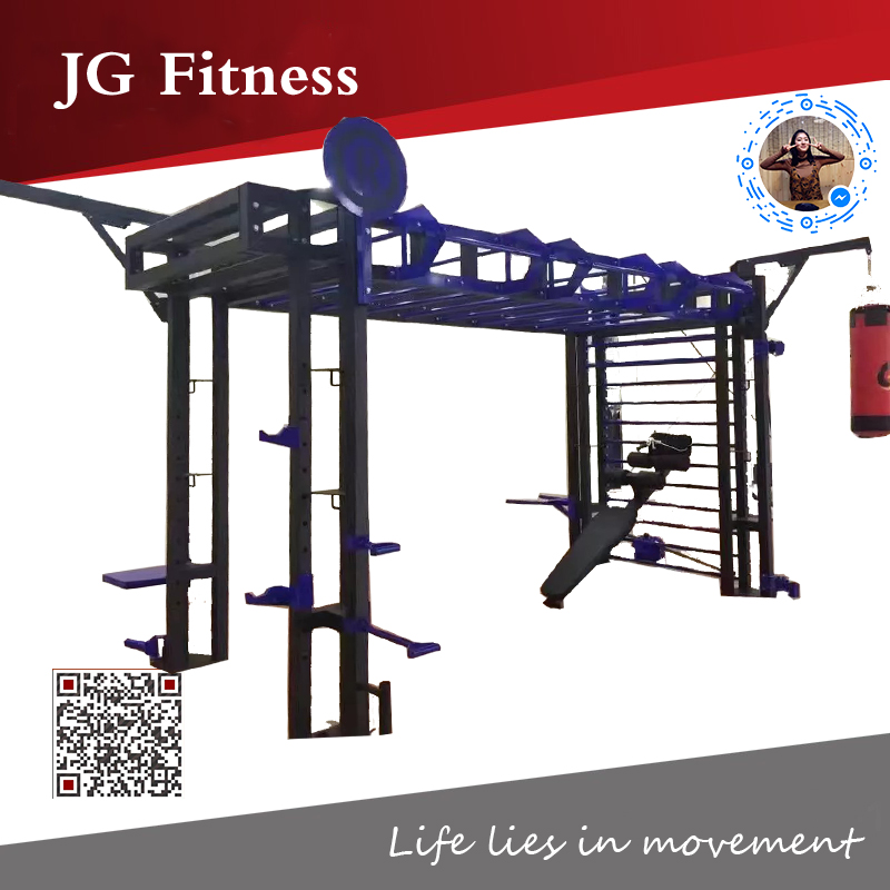 Heavy Duty Multi Power Cage Rack with Dip Station and Pull-up Bar for Crossfit