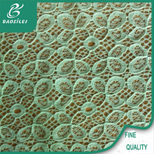 African swiss velvet lace mint green cord lace fabric