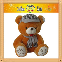 YF 2013 cute valentine toys with scarf brown bear