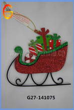 Artificial christmas iron decorative sleigh
