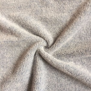 100 polyester recycled grey melange colo knit fleece track jacket fabric
