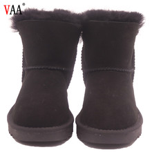 CF-188 Winter Factory Short Length Cow Suede And Lining Cartoon Design Cheap Boys Kids Winter Boots