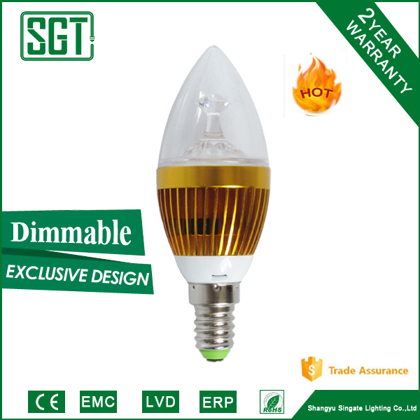 hot sale dimmable 3W4W IC driver led candelabra