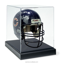 hot selling high quality clear acrylic football helmet display case box for football helmet
