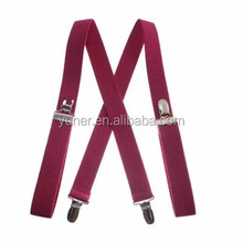 Fashion design men's elastic canvas suspenders