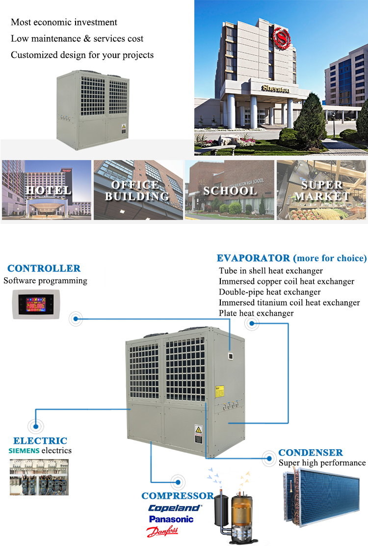 Altaqua 12 ton 50kw air cooled water chiller air conditioner manufacturer in doha qatar