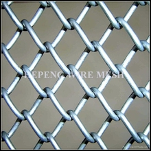 Galvanized steel Pvc green plastic coated Chain link field fencing