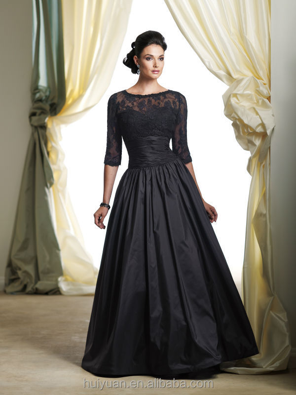 Beautiful A-line Top Lace Long Sleeve Lace Evening Gown