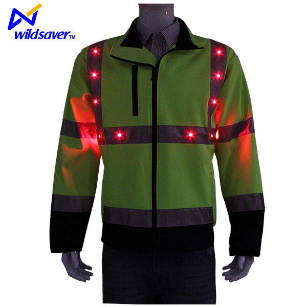 2016 New Winter LED Flashing Reflective Motorcycle Police Jacket
