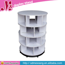MXJ017 wooden shoe store fixtures / shoe rotating floor stand