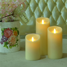 remote control flameless moving wick led candle for Christmas