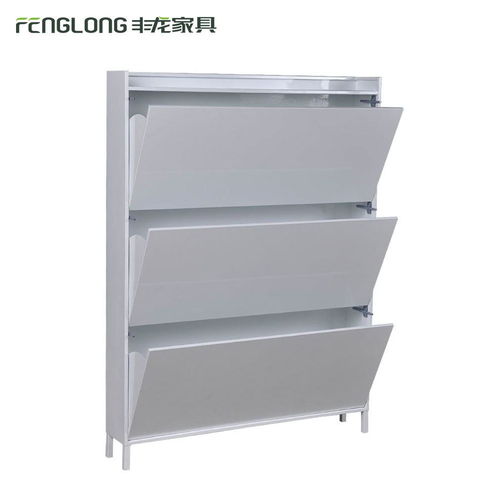 Hot Sale Office and Home Iron Shoe Box Cabine Shoe Rack White Particle Board Cabinets