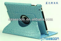 For ipad 4 case ,Crocodile lines Leather Case For iPad 4 Leather case