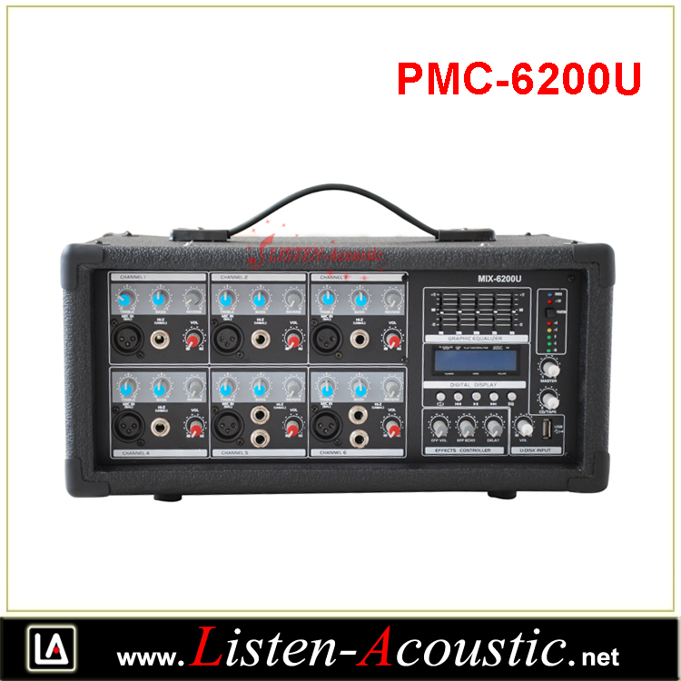 PMC-6200U Digital Multi Effect 6 Channel Power Mixer