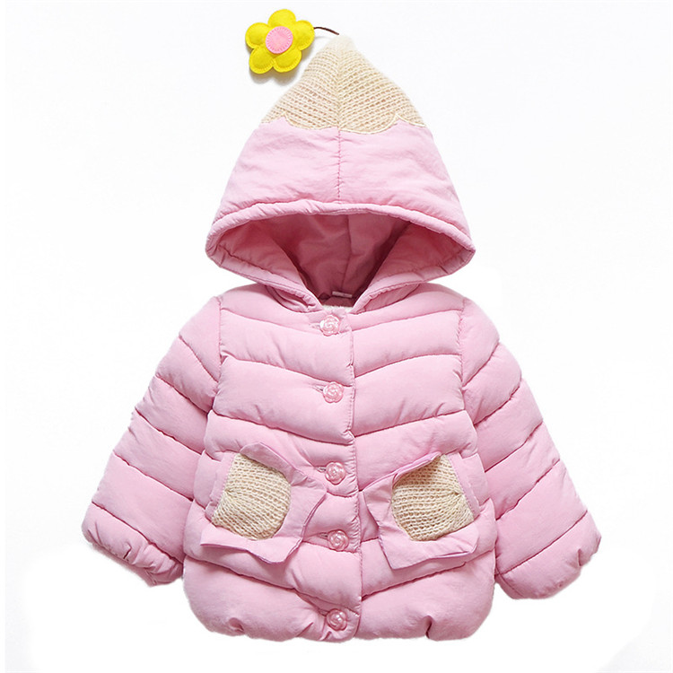 Kids Girls Winter Snow Wear Clothes Hooded Cotton Parka Down Coats Outerwear Jacket