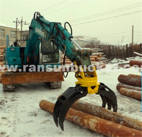 High Quality Full 360 degree double cylinders excavator hydraulic rotating grab