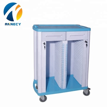 AC-RT003 Hospital medical equipment  abs plastic medical patient record  history trolley cart price