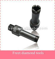 Diamond tip core drill bits for stone concrete, drilling core bits