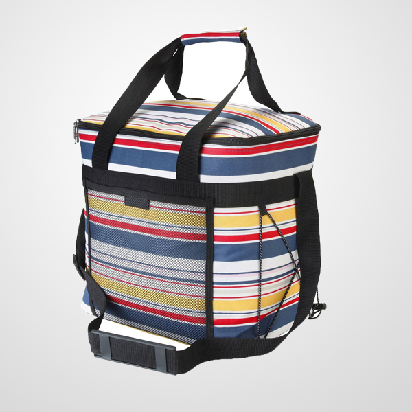 Hot Selling Picnic Cool Bag includes 2 freezer gel packs and 2 bottle ice coolers. Large- 28 litre - Stripy Design (Stripe)