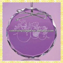 Faceted Round Beveled Glass Ornaments For 2014 Christmas Decoration