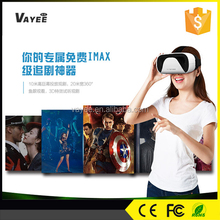 The newest design 3D virtual reality vr glasses, 3D remote control headset easy for mobile user shenzhen vr box