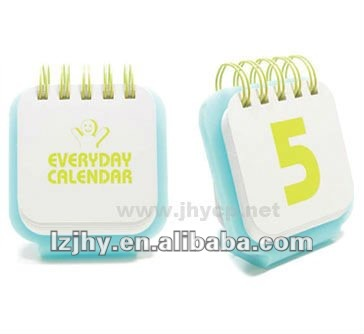 2013 custom design coloring desk daily cute calendar printing