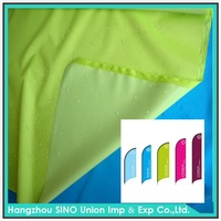 China supplier colorful waterproof 100 polyester pu coated flag fabric