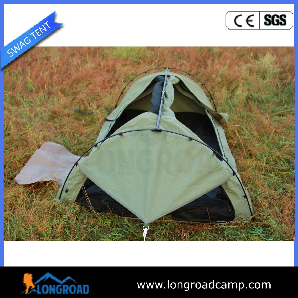 400d rip stop canvas family camping 1~2 person swag tent