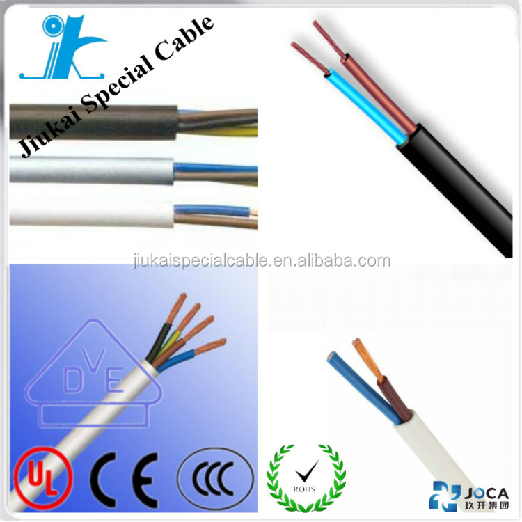 Bendable H05VV-F cable 5 core 1.0mm wire CE/RoHS certificate low price