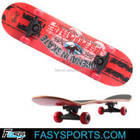 freerider skate cycle skateboard canadian maple complete 4 wheel skateboard longboard skateboard complete CE cetification