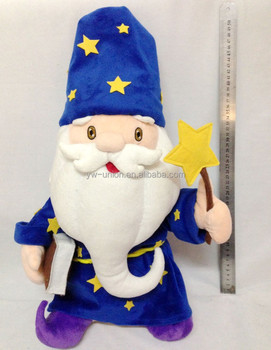 ODM OEM custom design plush soft fairy Wizard / stuffed plush fairy magician
