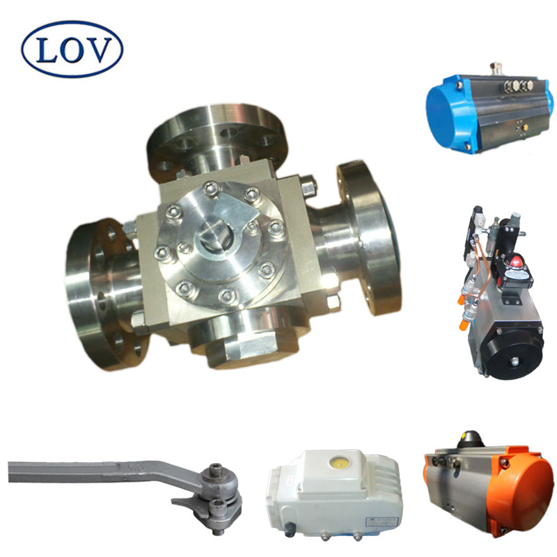 LOV Alloy Cast Steel Stainless Steel Three Way Ball Valve
