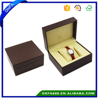 Handmade Luxury Brown Women Pu Leather Watch Box