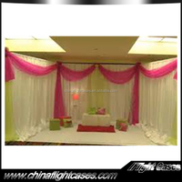 white chiffon drape for wedding decoration